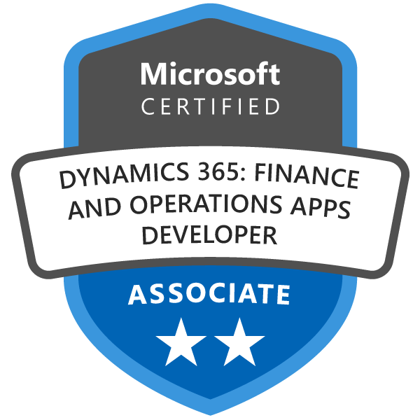 CERT-Associate-Dynamics365-Finance-and-Operations-Apps-Developer